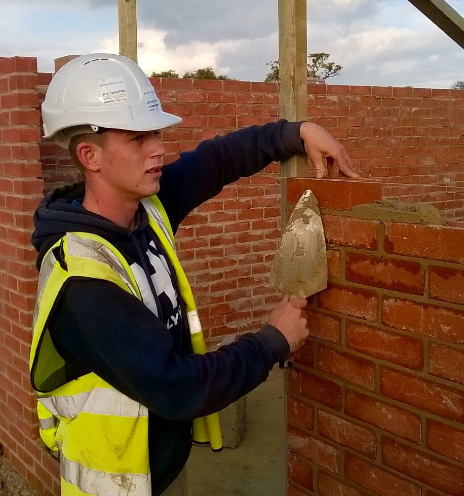 Company Image (Persimmon Homes: Trade Apprentice of the Year, Man Bricklaying)