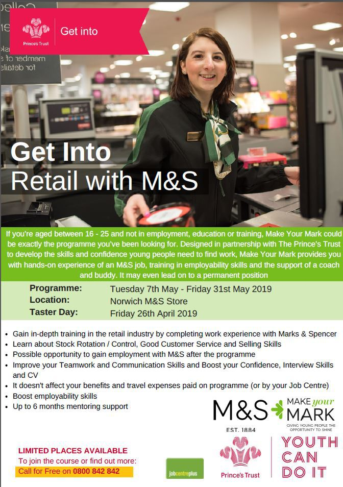 Marks and Spencer - get into retail