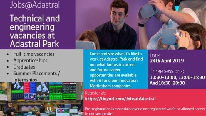 Post Image (BT: Jobs at Adastral Park flyer)