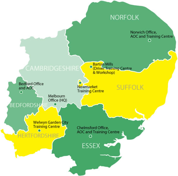 Company Image : East of England Ambulance Service Map