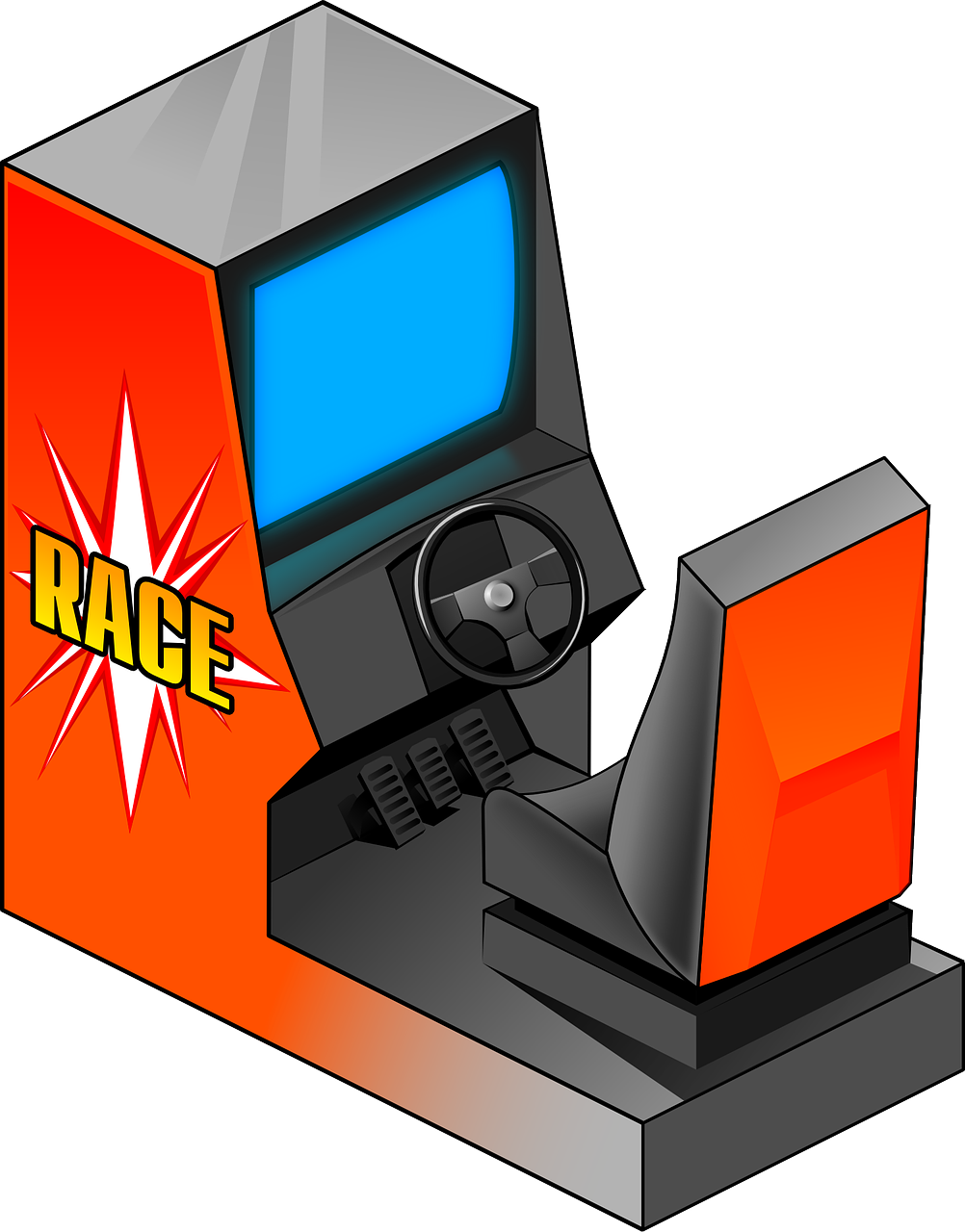 Site Image (Arcade machine racing game)