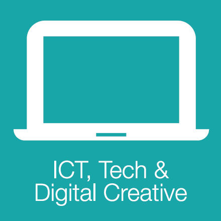 ICT, Tech & Digital Creative (Industry Level Icon: Laptop)