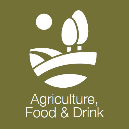 Agriculture Food & Drink (Industry Level Icon: Field and Trees)
