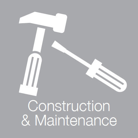 Construction & Maintenance (Industry Level Icon: Tools)