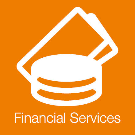 Financial Services (Industry Icon: Coins and notes)