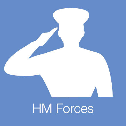 HM Forces (Industry Icon: Saluting figure)