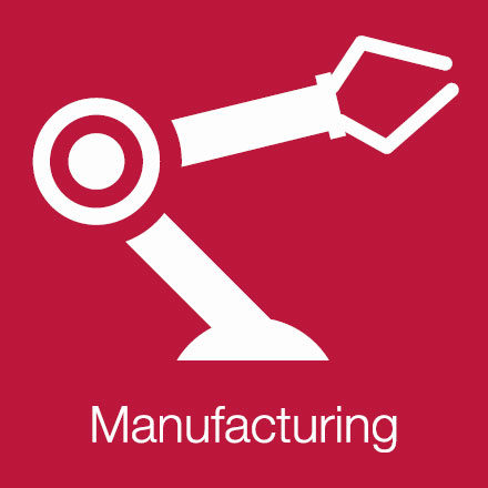 Manufacturing (Industry Icon: Robotic Arm)