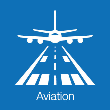 Aviation (Industry Icon: Plane and Runway)