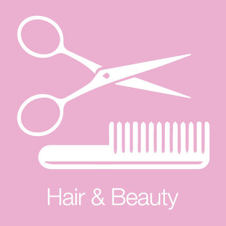 Hair & Beauty (Industry Icon: Scissors and Comb)
