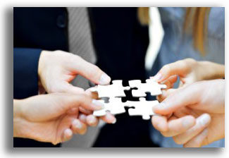 Company Image (Talk Enterprise:People Completing Jigsaw Puzzle)