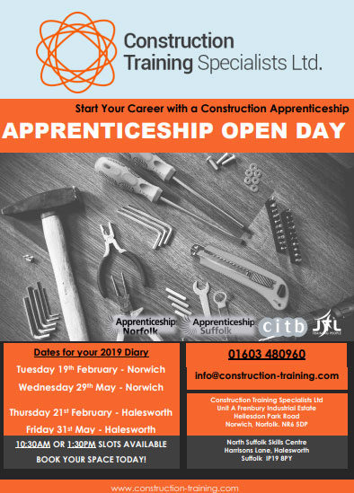 Organisation Image (Construction Training Specialist Ltd: 2019 Open Days - Flyer)