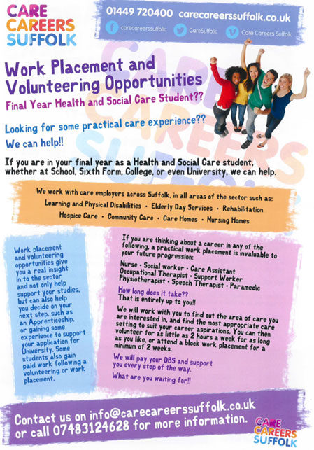 Organisation Image (Care Careers Suffolk: Work Placement & Taster Days)