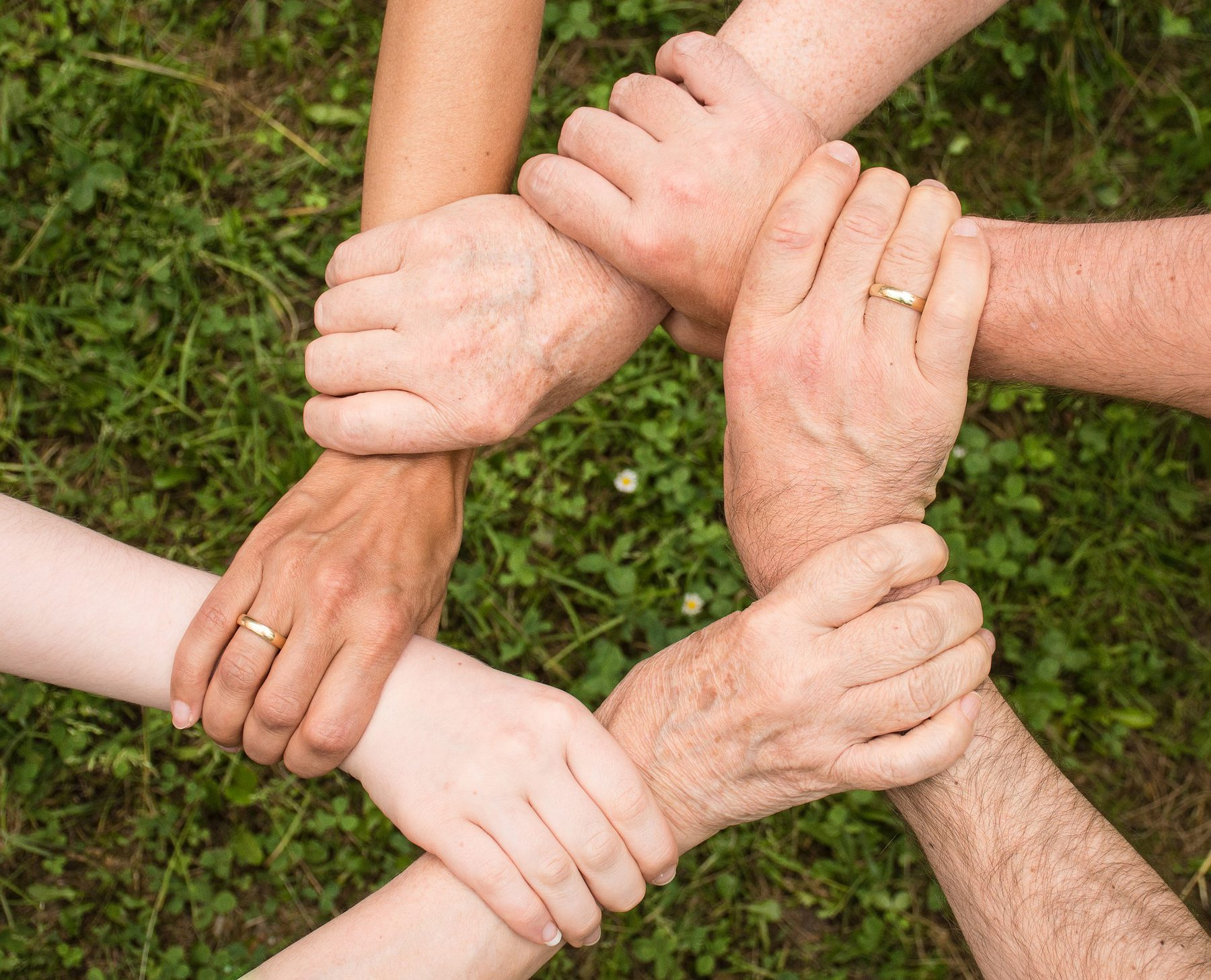 Community and Youth Work  (Sector Header: Holding Hands)
