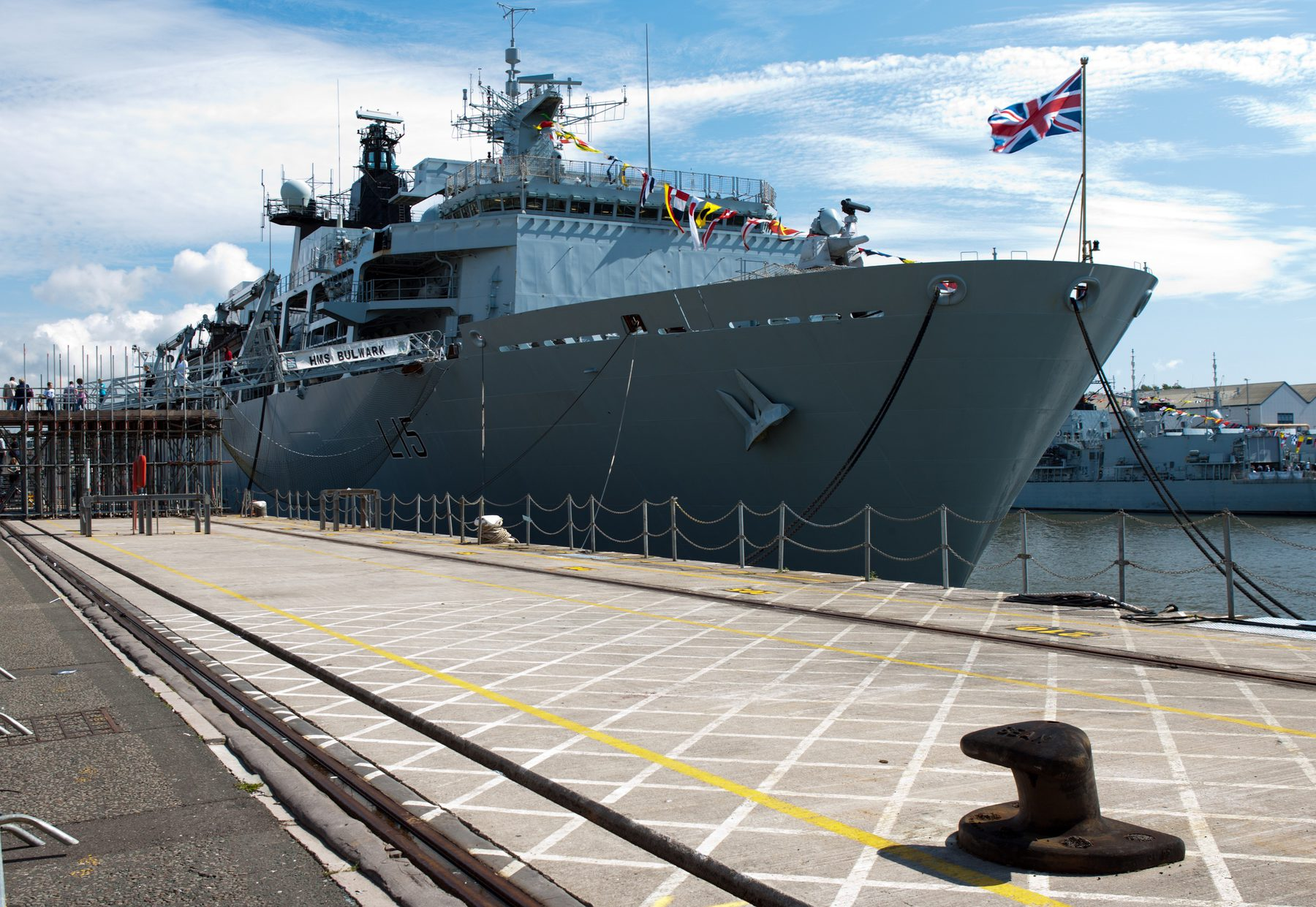 Royal Navy (Sector Header: Ship in Dock)