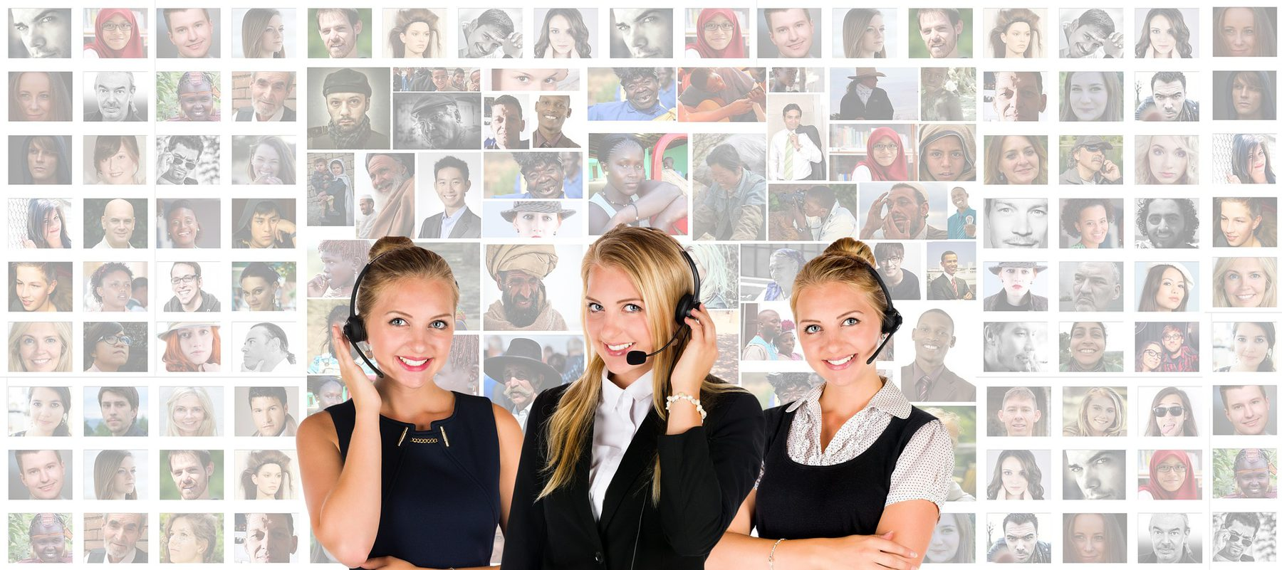 Customer Service (Sector Header: People with Telephone Headsets)