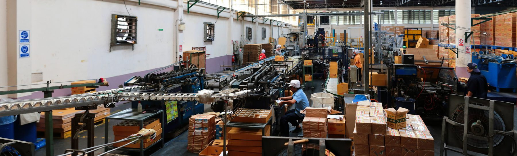 Manufacturing and Production  (Sector Header: Factory Production Line)