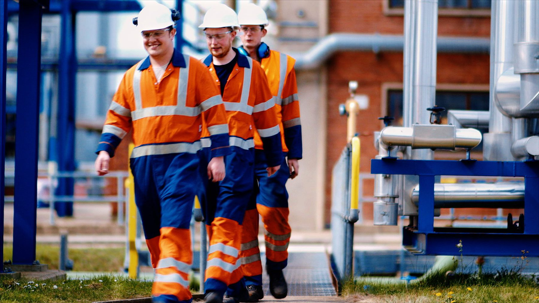 Company Image (Briar Chemicals: Men in High-vis, on site)