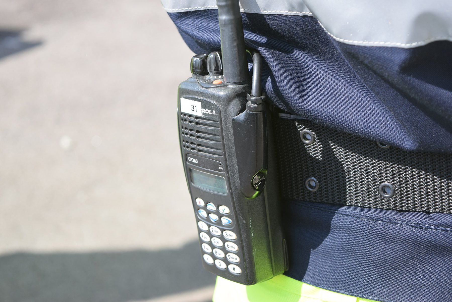 Job Role Image (Police Community Support Officer: Radio on Belt)