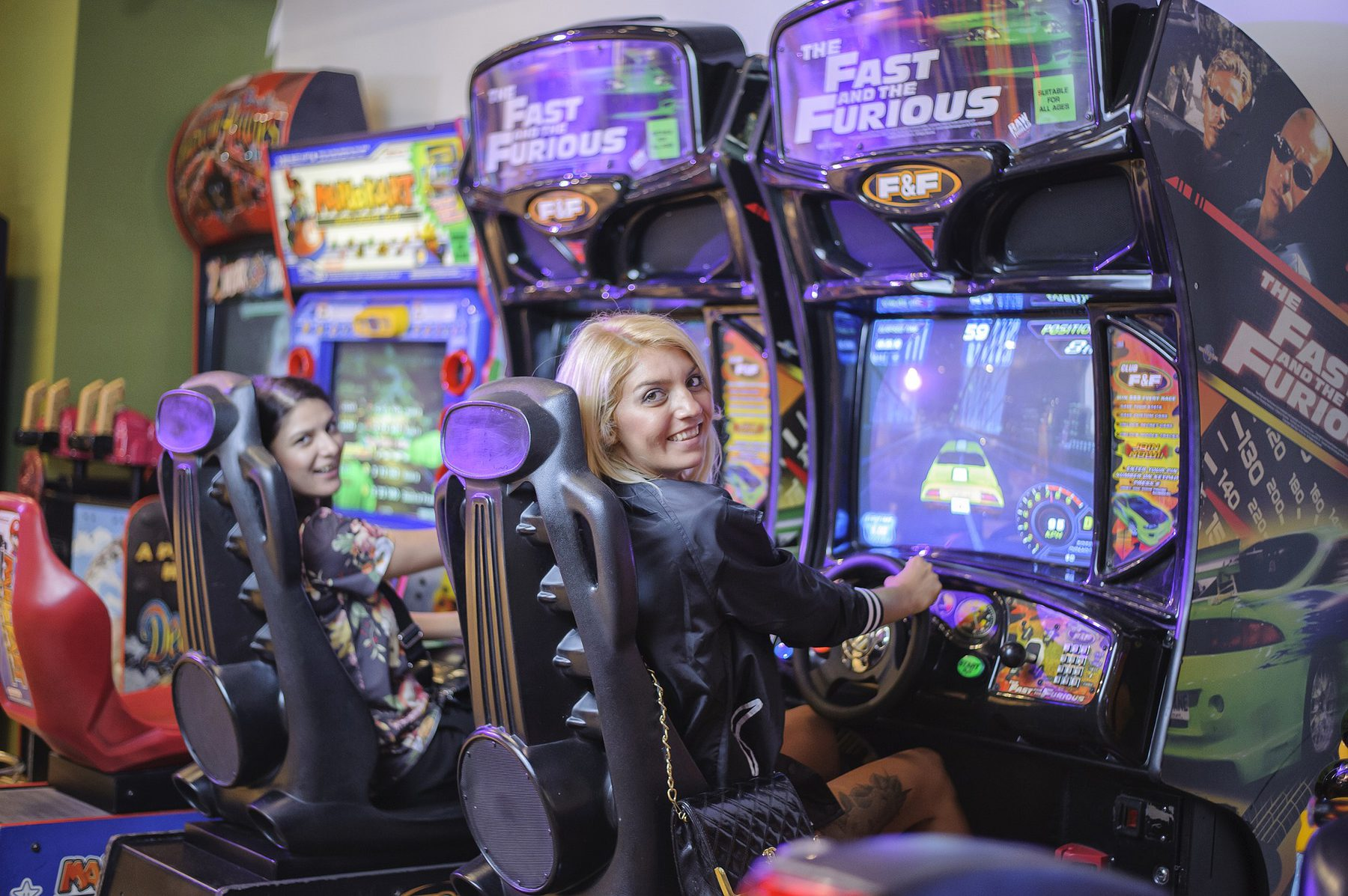 Sector Image (Leisure: Women playing on Arcade Machines)