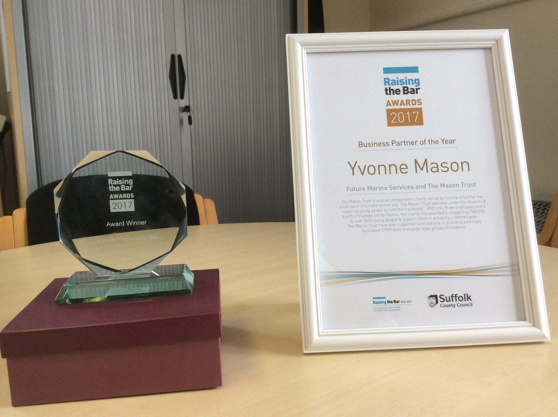 Organisation Image (The Mason Trust: Raising the Bar 2017 Awards)