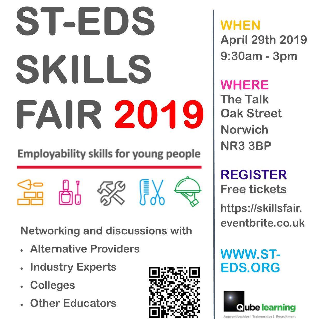 St Eds Skills Fair 2019 Logo