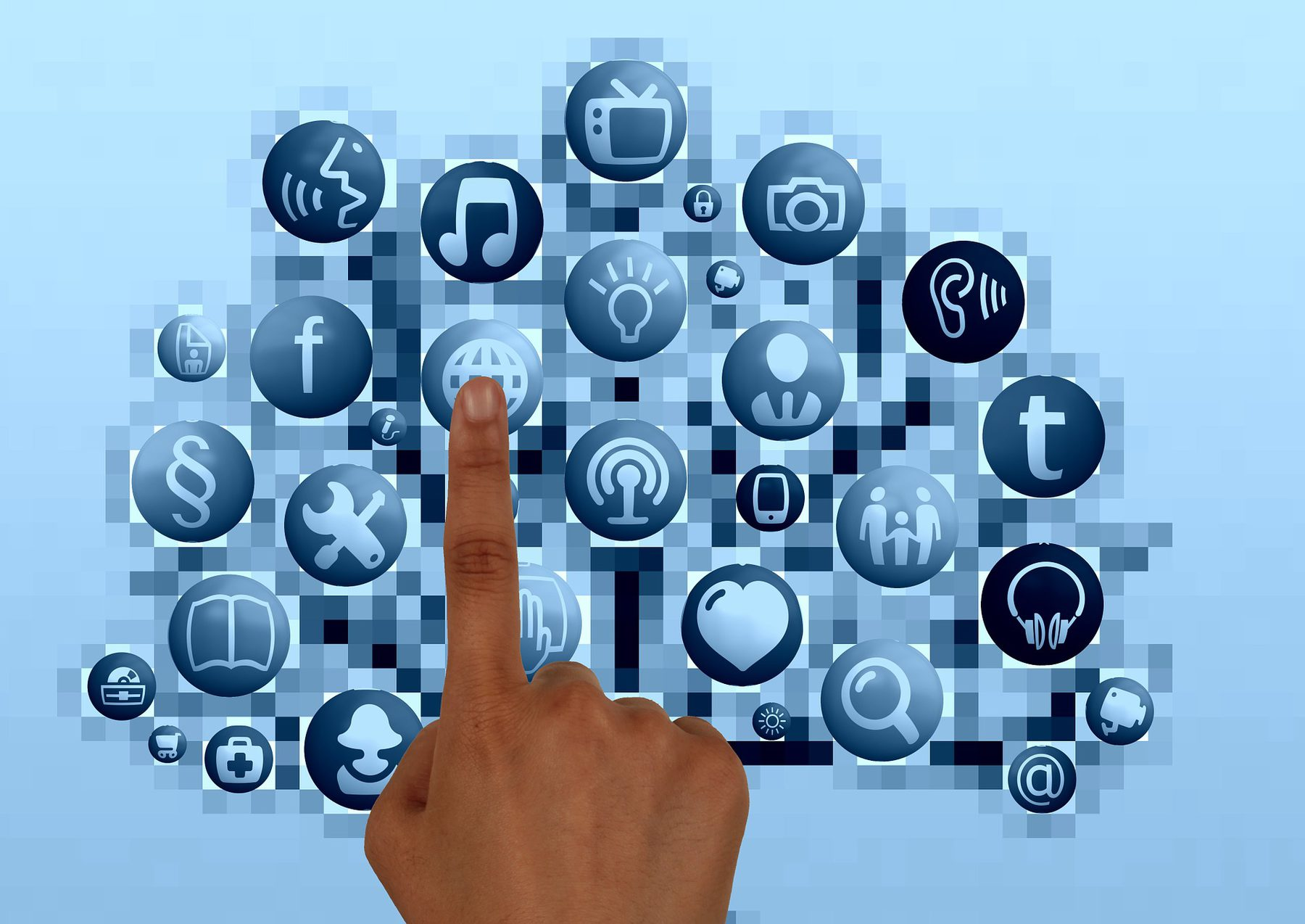 Site Image (Options, Finger, Icons, Choice, Choose, Interests, Careers, Touch, Touchscreen, Select, Selection)