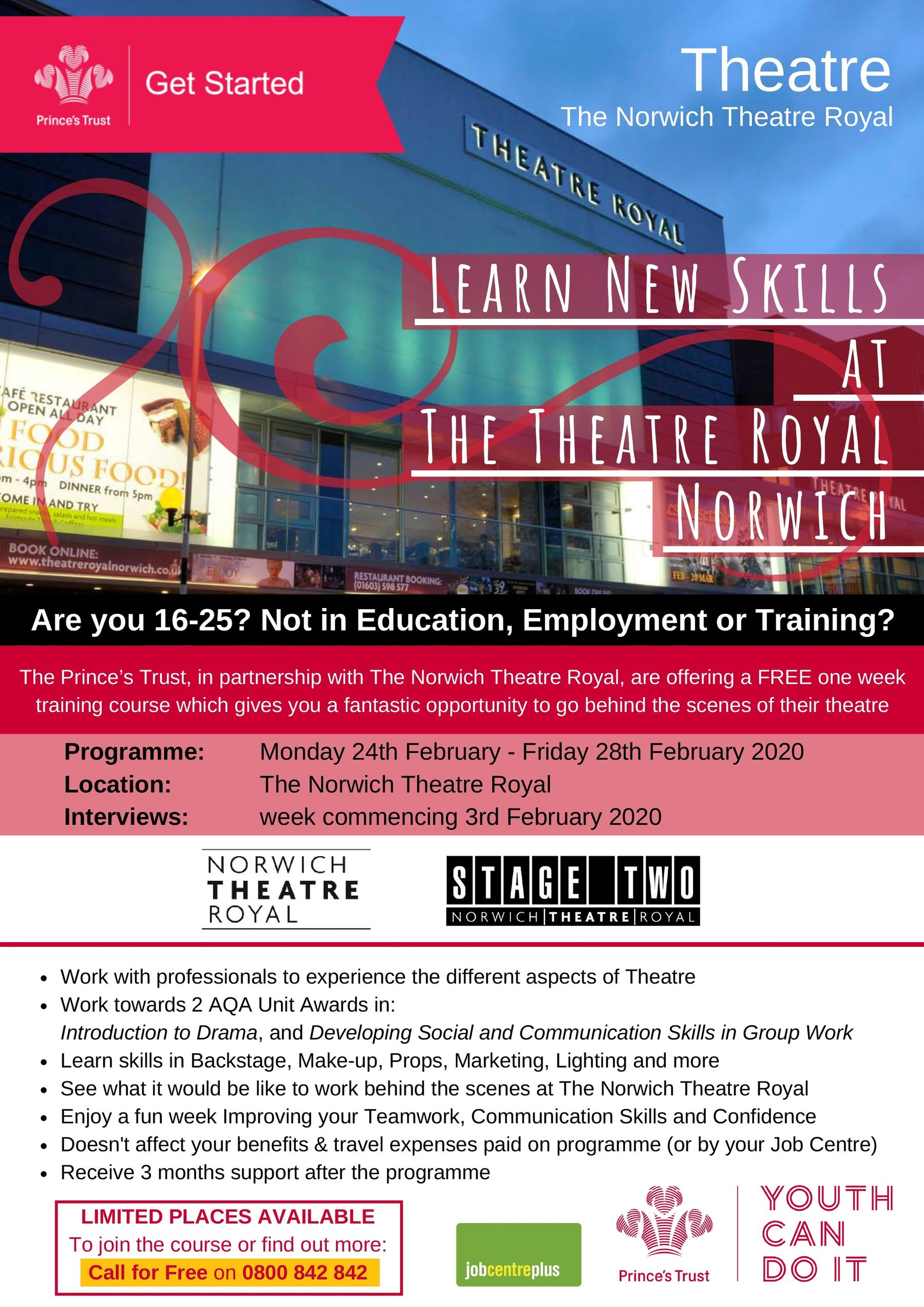 Prince's Trust 2020: Get Started With Theatre
