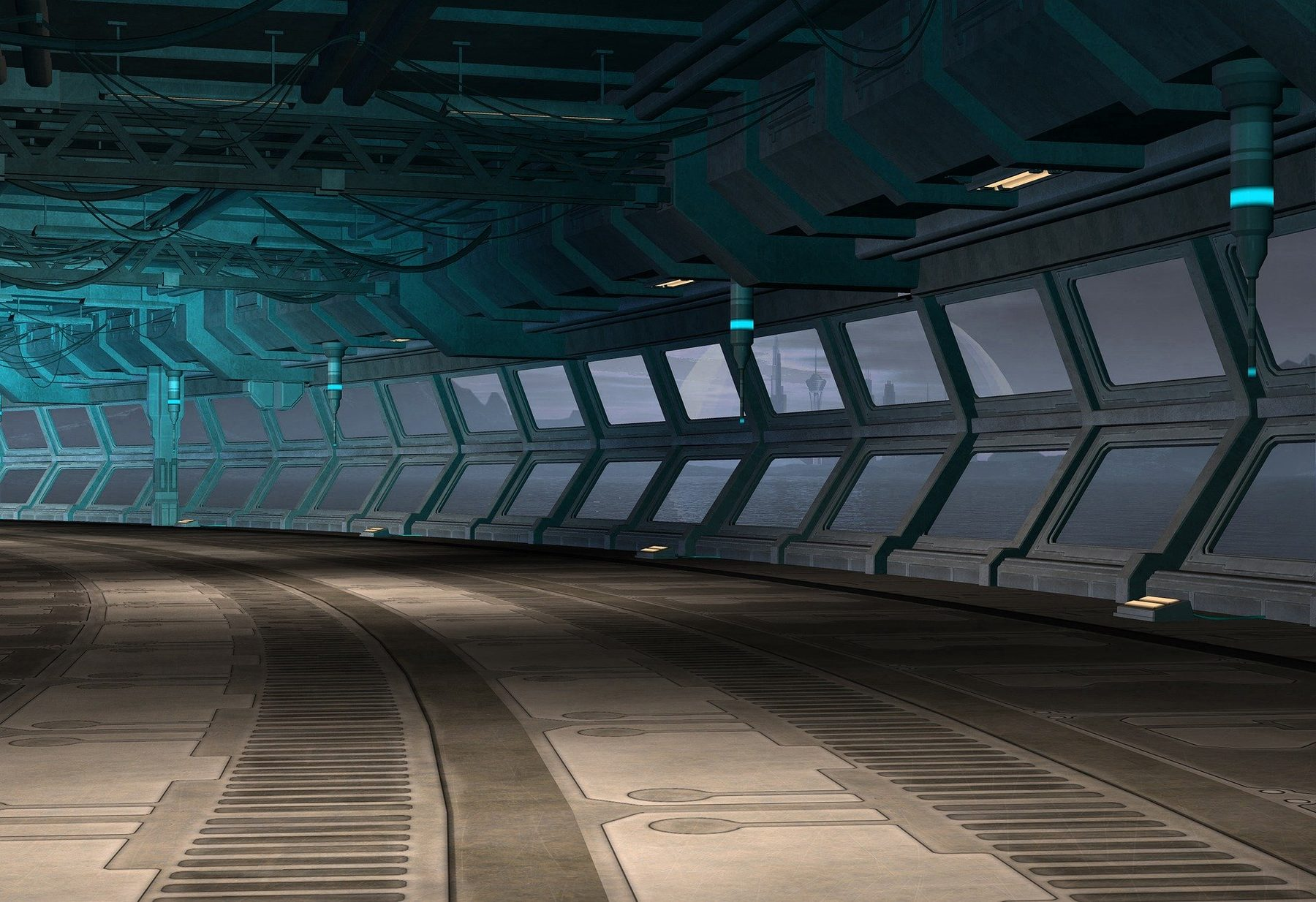 Site Image (Sci-Fi, Science Fiction, Corridor, 3D, Game, Spaceship)