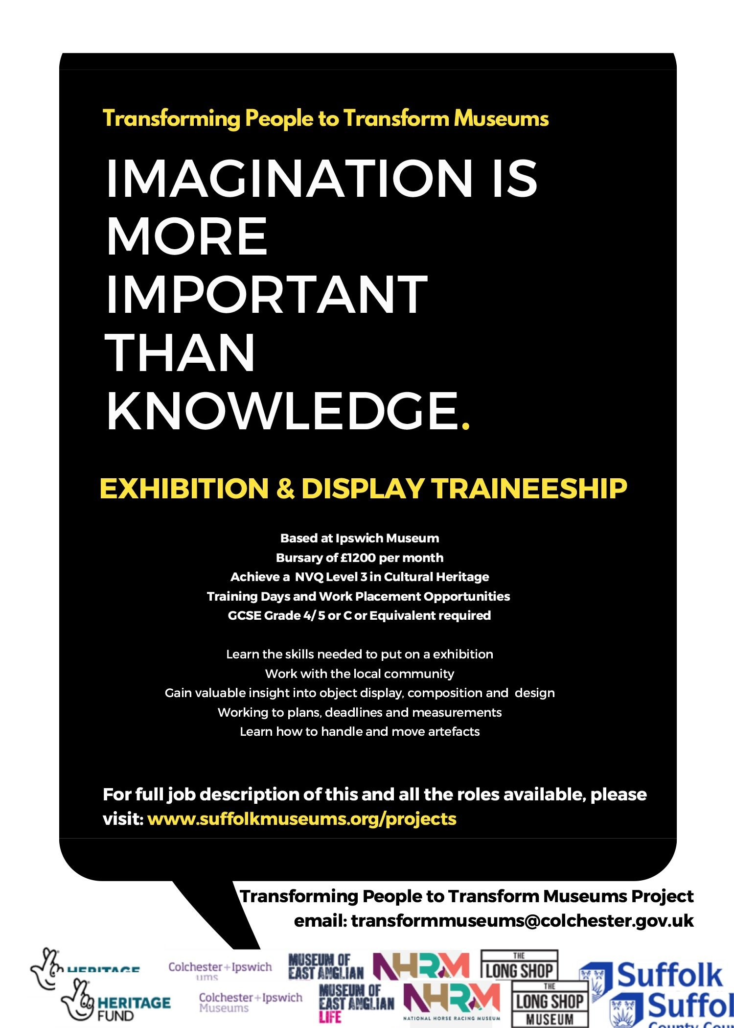Exhibition And Display Traineeship