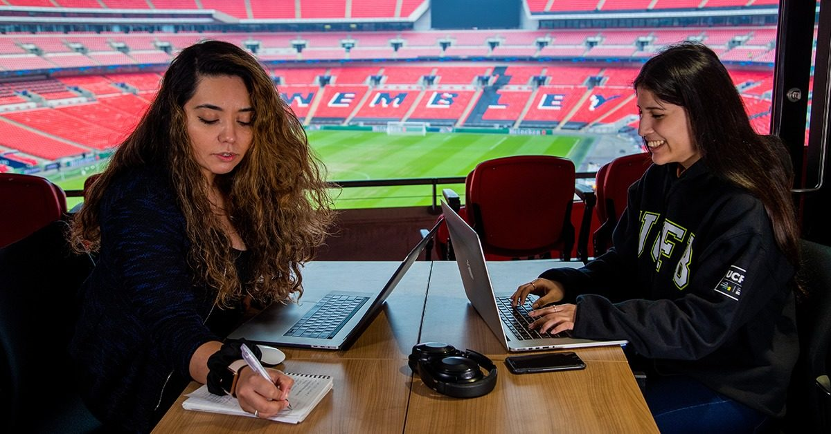 Female Students Studying Wembley 2