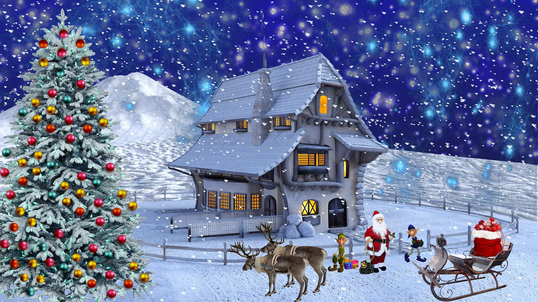 Site Image (Santa, Presents, Snow, Christmas Tree)